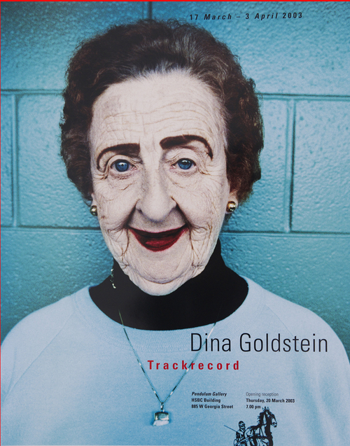 ORIGINAL TRACKRECORD Exhibition 2004 poster 'MARGARET' By photographer Dina Goldstein