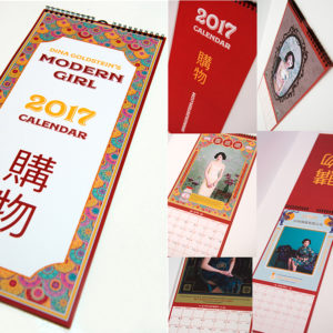 Dina Goldstein's Modern Girl, Calendar 2017, Includes 12 pieces portraits of satirical ads in a beautifully designed and printed art calendar.