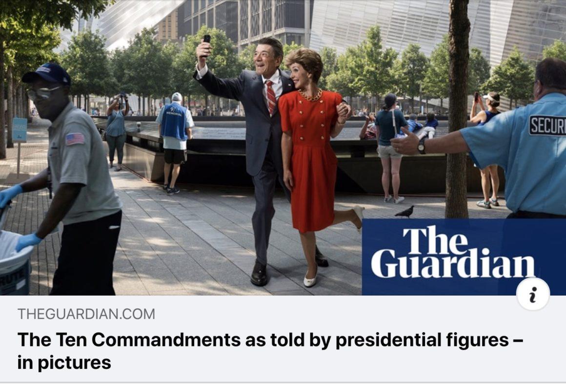 Dina Goldstein 10 Commandments in the Guardian newspaper