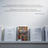 books from exhibition opening Snapshots From The Garden Of Eden Montreal Jewish Museum Montreal 2020