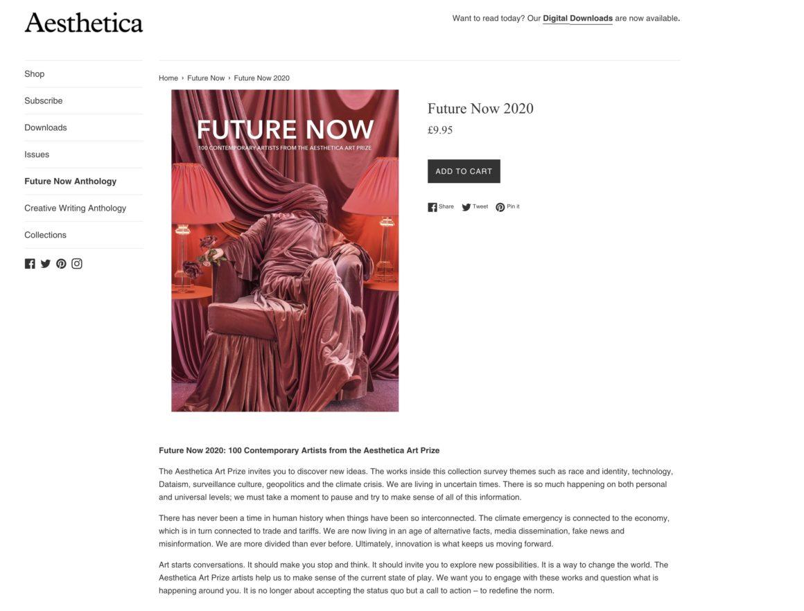 Aesthetica art prize 2020 book